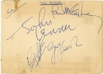 The Beatles 1963/1964 Group Signed Autograph Book Page (4 Sigs) (Beckett/BAS Guaranteed) (Tracks COA)