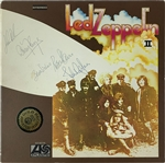"Led Zeppelin Exceptional Group Signed ""Led Zeppelin II"" Record Album with John Bonham (JSA, Epperson/REAL & Tracks UK)"