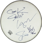Alice in Chains Group Signed Remo Drumhead with Layne Staley (Beckett/BAS)