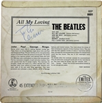 "The Beatles: John Lennon Signed ""All My Loving"" UK Parlaphone 45 RPM Record Single (Epperson/REAL)"