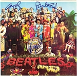 "The Beatles ULTRA RARE Signed ""Sgt Peppers"" Album Cover with Paul, George & Ringo - One of Just a Few Authentic Examples in Existence! (PSA/DNA, JSA, Epperson/REAL)"